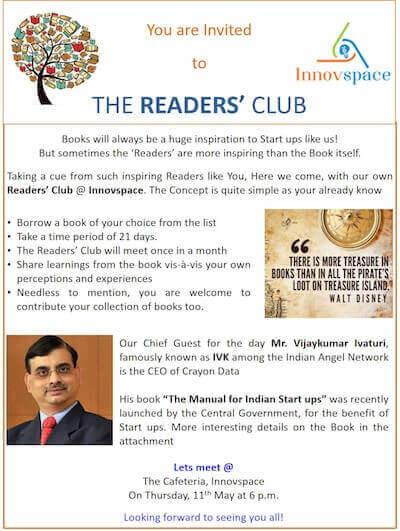 Readers Club @Innovspace